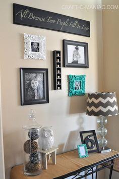 DIY Gallery Wall Nook! #gallerywalls #homedecor