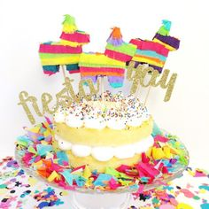 Mini Piñata Cake Toppers, Cinco de Mayo, Birthday Parties. Wedding, Fiesta, Burro Toppers - SET of 3 by lulaflora on Etsy https://www.etsy.com/listing/238798177/mini-pinata-cake-toppers-cinco-de-mayo