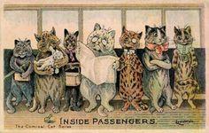 Louis Wain Cats Trolley Trip