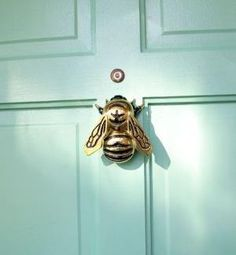 honey bee brass door knocker. by goldie