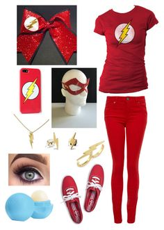 """The Flash Costume"" by danii1d ❤ liked on Polyvore featuring Keds, Paige Denim, C. Wonder, Eos and Bing Bang"