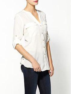 Calvin Klein Modern Essential Blouse | Piperlime