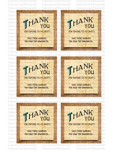 By purchasing these files, you are agreeing that they will be for personal use only. You may not share, forward, or otherwise use them for profit. These files were designed by artists at The Tigers Trunk and are our intellectual property. The illegal use of these files will be pursued and reported.  These 3x3 favor tags are perfect for your childs Huck Finn-themed birthday party or baby shower! This is an original design.  Trim Marks to assist in cutting the cards out are available on…