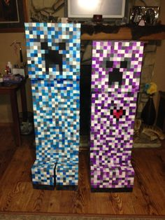 Minecraft Creeper Costume #Halloween #cardboard #kids