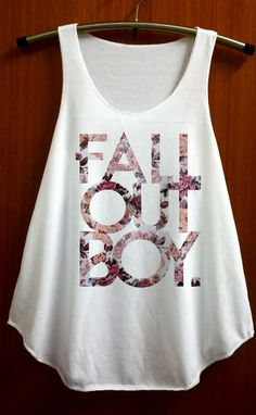 Fall Out Boy Shirt Tank Top Pop Rock Music Tanktop by ABBEYSTORE, $14.99