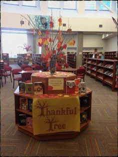What books are you thankful for? A great way for patrons to have fun and feel like they are contributing