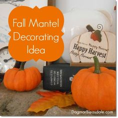 Fall Mantel Decor at the Blue Cottage. DagmarBleasdale.com  #fall #mantel #interiordesign