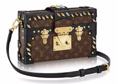 Louis-Vuitton-Monogram-Studded-Petite-Malle-with-Strap