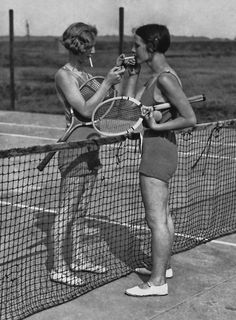Tennis and smoking in the 20's