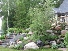 A more natural look for a retaining wall...