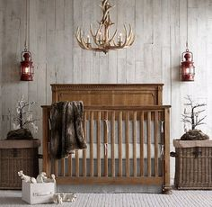 Make a serious statement with this antler chandelier. Not just any baby could pull it off!