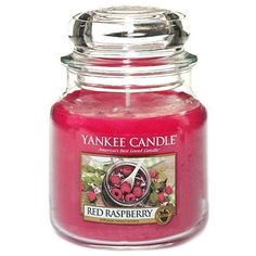 Yankee Candle Red Raspberry Medium Jar Candle, Fruit Scent by Yankee Candle Company