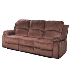 Life Style Odessa Brown Microfiber Reclining Sofa (Brown)