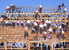 Construction of a building in an amish community