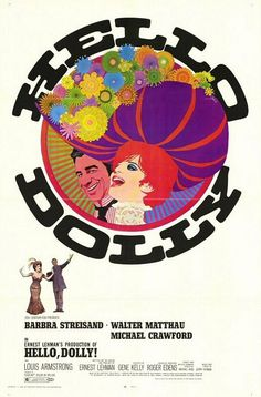 """MP029. """"Hello Dolly"""" American Movie Poster by Richard Amsel (Gene Kelly 1969) / #Movieposter"""
