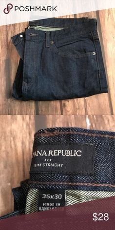 Banana RepublicMen Jeans Slim Straight Worn couple of times looks new Banana Republic Jeans Slim Straight