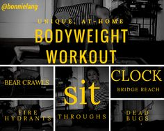 Unique at home #BodyWeight workout by @bonnielang