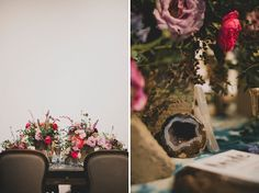 I am a huge fan of #KatiePritchard.  Her photographic style is so laid back yet captures an immense amount of story and detail.  I especially love the use of negative space on the left photo.  And those #florals! // as seen on #GreenWeddingShoes Photos by Katie Pritchard
