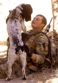 Soldier and His Dog Live and Die Together
