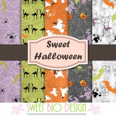 SBDSet di carte Sweet Halloween - scrapbooking papersby SweetBioDesign