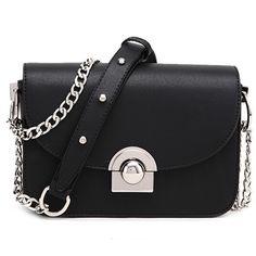 2016 New Fashion Women Messenger Bags Chain Lock Leather Handbags Famous Brands Designer Mini Shoulder Bag Woman Crossbody Bags - HandBagList
