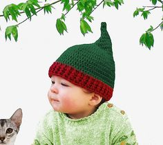 Ravelry: Pixie or Christmas Hat Crochet Pattern - Six Sizes - Preemie to Adult pattern by Jessica Jorquera