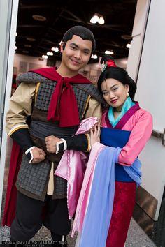 Li Shang and Mulan #Cosplay | Anime Los Angeles 2016