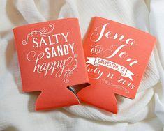 Personalized Koozies Wedding Koozies Destination by SipHipHooray