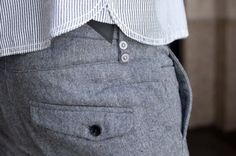 pant details; I known these are men's trousers however I need some.