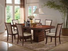 5pc Country Style Natural Finish Wood Dining Table 4 Windor Arrowback Chair Set By Acme Furniture 22999 And Kitchen Some Assembly May