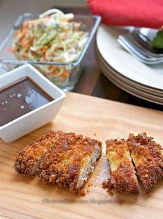 Cách làm món thịt chiên giòn chấm sốt Tonkatsu kiểu Nhật - http://congthucmonngon.com/22834/cach-lam-mon-thit-chien-gion-cham-sot-tonkatsu-kieu-nhat.html