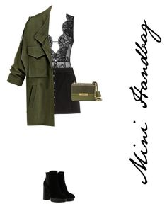 """""""Mini Handbag"""" by yasminethomas8 ❤ liked on Polyvore featuring Agent Provocateur, H&M, Moschino and Hogan"""