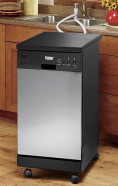 Portable Dishwasher by Montgomery Ward Small Dishwasher, Countertop Dishwasher, Portable Dishwasher, Integrated Dishwasher, Countertops, Tiny Cooking, Portable Washing Machine, Small Condo, Updated Kitchen