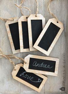 Weiteres - Tafel Holz- Anhänger Namensschild - ein Designerstück von CraftsandDeco bei DaWanda