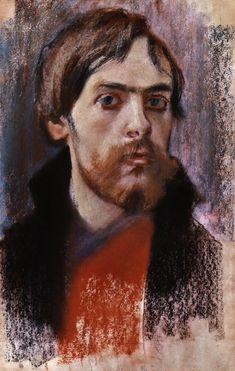 """Stanisław Wyspiański (Polish 1869–1907) """"Self-Portrait"""", 1895, National Museum, Poznan."""