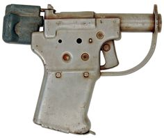 """Pistol: FP-45 """"Liberator"""". Simple and cheap, 1,000,000 were turned out within one month for only $2.10 for each complete kit.  They were concealable, reliable, and powerful.  But they had an inherently short lifespan, inaccuracy, and slow follow up"""