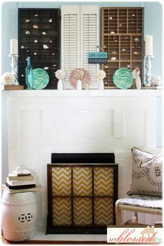 Summer Mantel Link Party | The Lettered Cottage