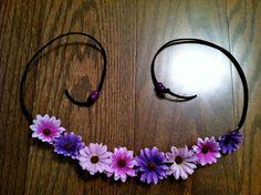 Multi Purple EDC Daisy Flower Headband Flower by BrittsBlossoms, $16.95