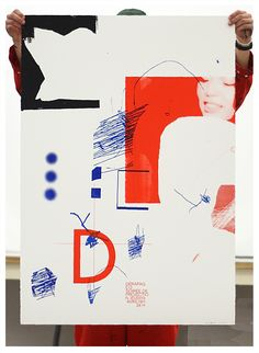 Dérapage 12 - Affiches by Éliot B.Lafrenière, via Behance Graphic Design Brochure, Graphic Design Posters, Graphic Design Inspiration, Typography Design, Graphic Art, Vintage Graphic, Poster S, Poster Prints, Cover Design