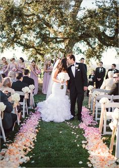 outdoor wedding ceremony… love the ombre petals lining the aisle summer wedding trend – Outdoor Wedding Decorations 2019 Wedding Aisle Outdoor, Wedding Aisle Decorations, Outdoor Ceremony, Wedding Themes, Wedding Colors, Wedding Ceremony, Outdoor Weddings, Church Weddings, Reception