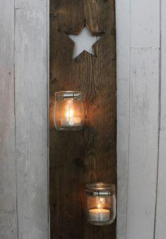 DIY Kerzenhalter Holz weihnachtlich                                                                                                                                                                                 Mehr