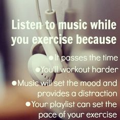 Get motivated with Music.