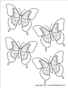 Butterfly free printables - coloring pages for the neices or maybe even find a way to work it into decoration crafts Butterfly Images, Butterfly Baby, Butterfly Crafts, Butterfly Ornaments, Butterfly Mobile, Cool Paper Crafts, Fun Crafts, Crafts For Kids, Craft Kids