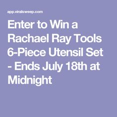 Enter to Win a Rachael Ray Tools 6-Piece Utensil Set - Ends July 18th at Midnight