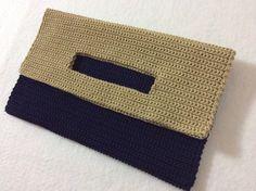 crochet clutch tote bag