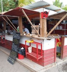 """This beach shack, called Le Petibonum, serves up a five-course gourmet French-Creole meal, made by local chef Guy Ferdinand.  Ferdinand fancies himself as """"an artist."""" #AccorVacation"""