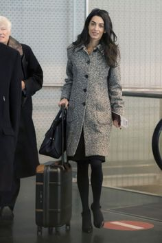 Arriving at EuroAirport Basel-Mulhouse-Freiburg in Paris in 2015. See all of Amal Clooney's best looks.