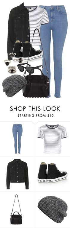"""Style #9816"" by vany-alvarado ❤ liked on Polyvore featuring Topshop, Converse, Ray-Ban, Alexander Wang, H&M, Forever 21, women's clothing, women, female and woman"