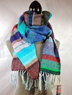 lovely handwoven scarf from pidgepidge Cozy Scarf, Scarf Design, Scarf Styles, Wearable Art, Sangria, Boho Chic, Hand Weaving, Monaco, Clothes