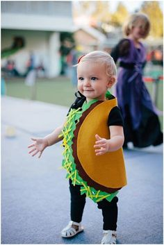 Grab some felt to make this simple DIY Taco girl's costume.